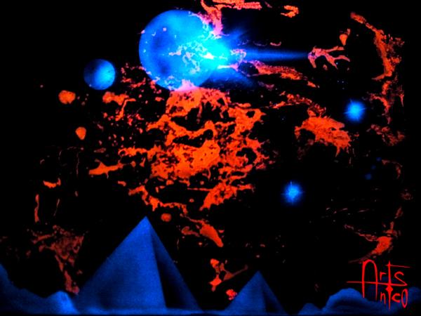 peinture fluorescent lumière noire - Comment Faire De La Peinture Fluorescente