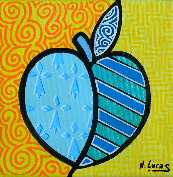 Pomme Breizh, peinture acrylique 30x30