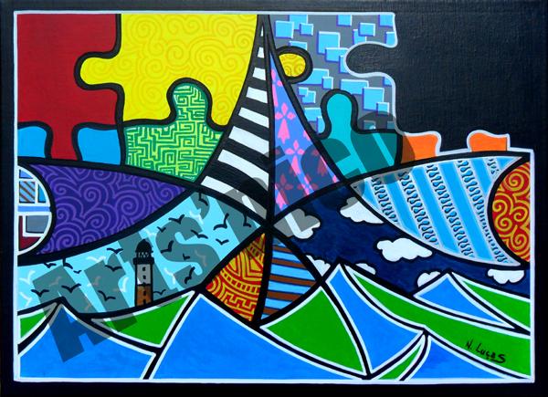 Peinture acrylique arts'nico 46x38