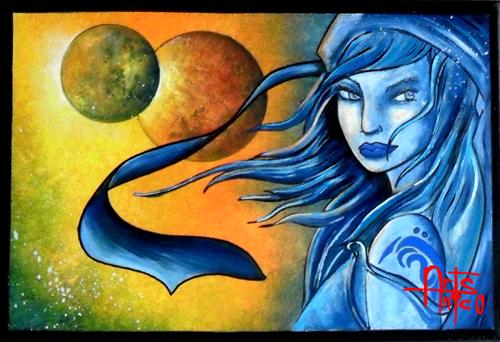 Art BD, peinture acrylique